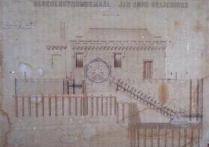 Historische tekening van het gemaal
